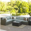 NorthCape International Malibu Outdoor Sectional  - Item Number: NC260SCR+3xSCM+SCC+SCL