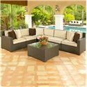 NorthCape International Malibu Left Arm Facing Six Piece Outdoor Sectional