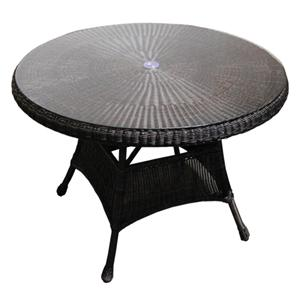 "NorthCape International Universal 42"" Round Dining Table w/ Glass Top"