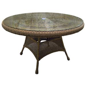 "NorthCape International Universal 48"" Round Dining Table w/ Glass"