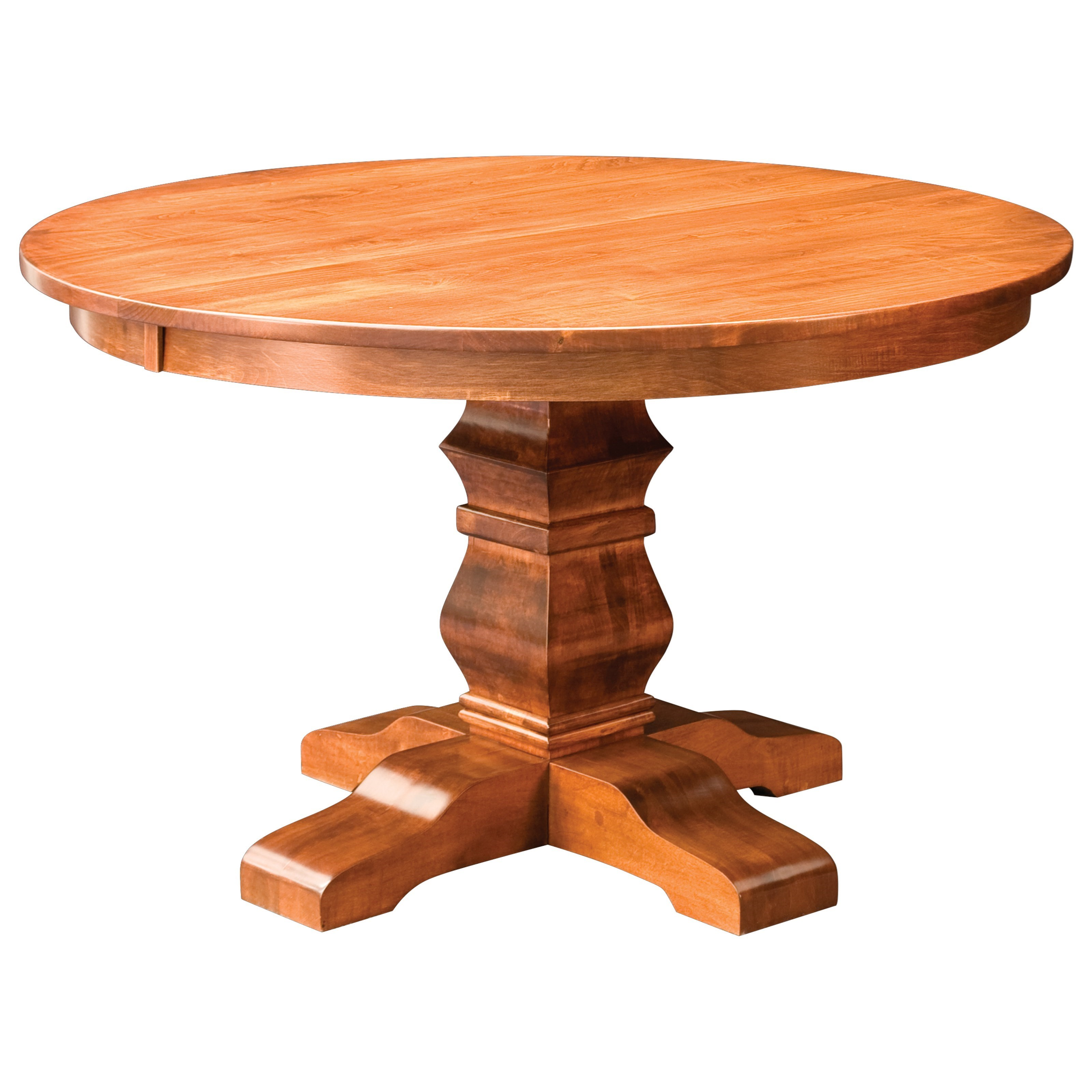 "Customizable Solid Wood 42"" Pedestal Table"