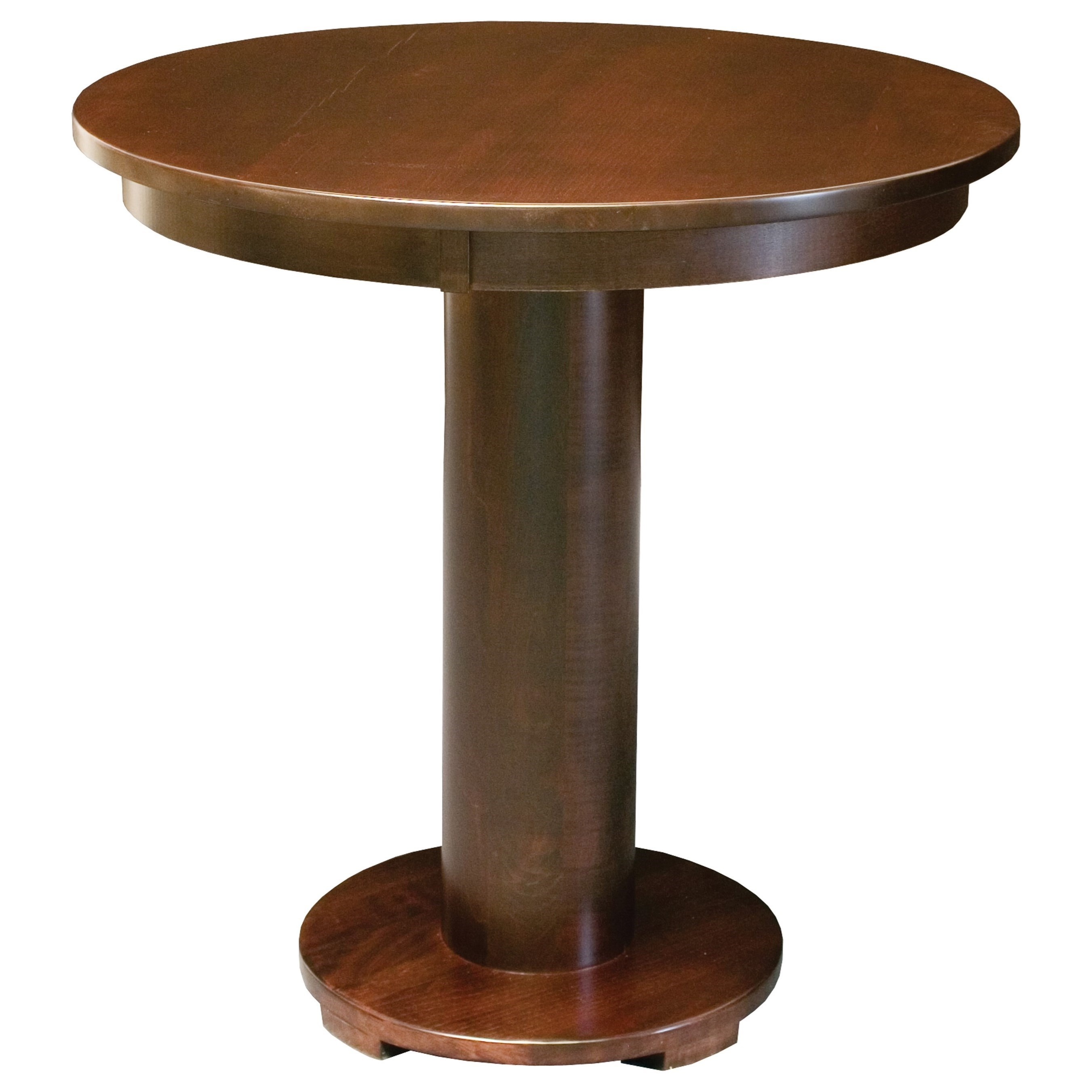"Customizable 42"" Solid Wood Pedestal Table"