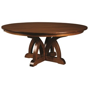 """Customizable 60"""" Solid Wood Pedestal Table"""