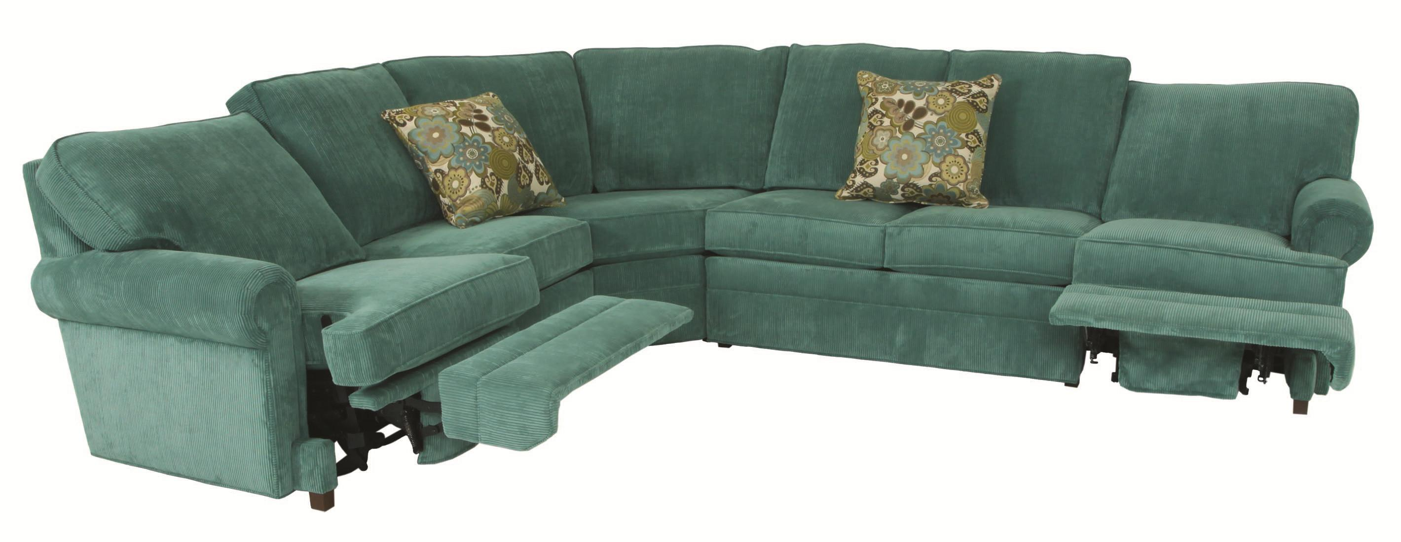 Norwalk Austin Transitional 5 Piece Sectional With Curved
