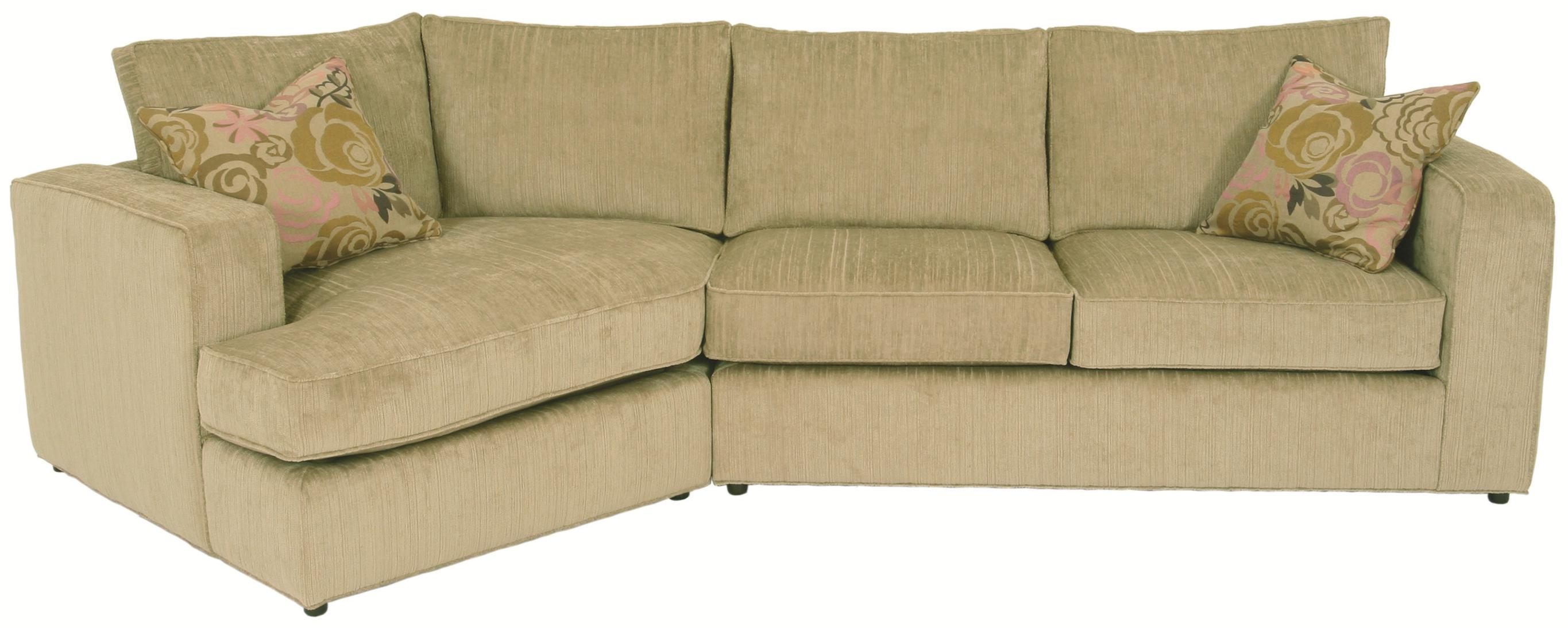 Norwalk Milford Sectional Sofa With Track Arms Loose Back