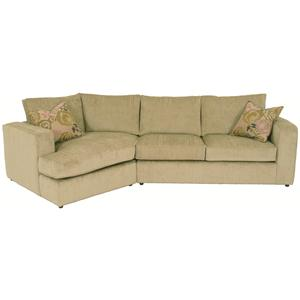 Norwalk Milford Sectional Sofa with Track Arms, Loose Back Cushions and Angled Chaise