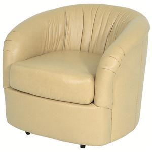 Omni Contemporary Barrel Styled Swivel Chair  by Norwalk