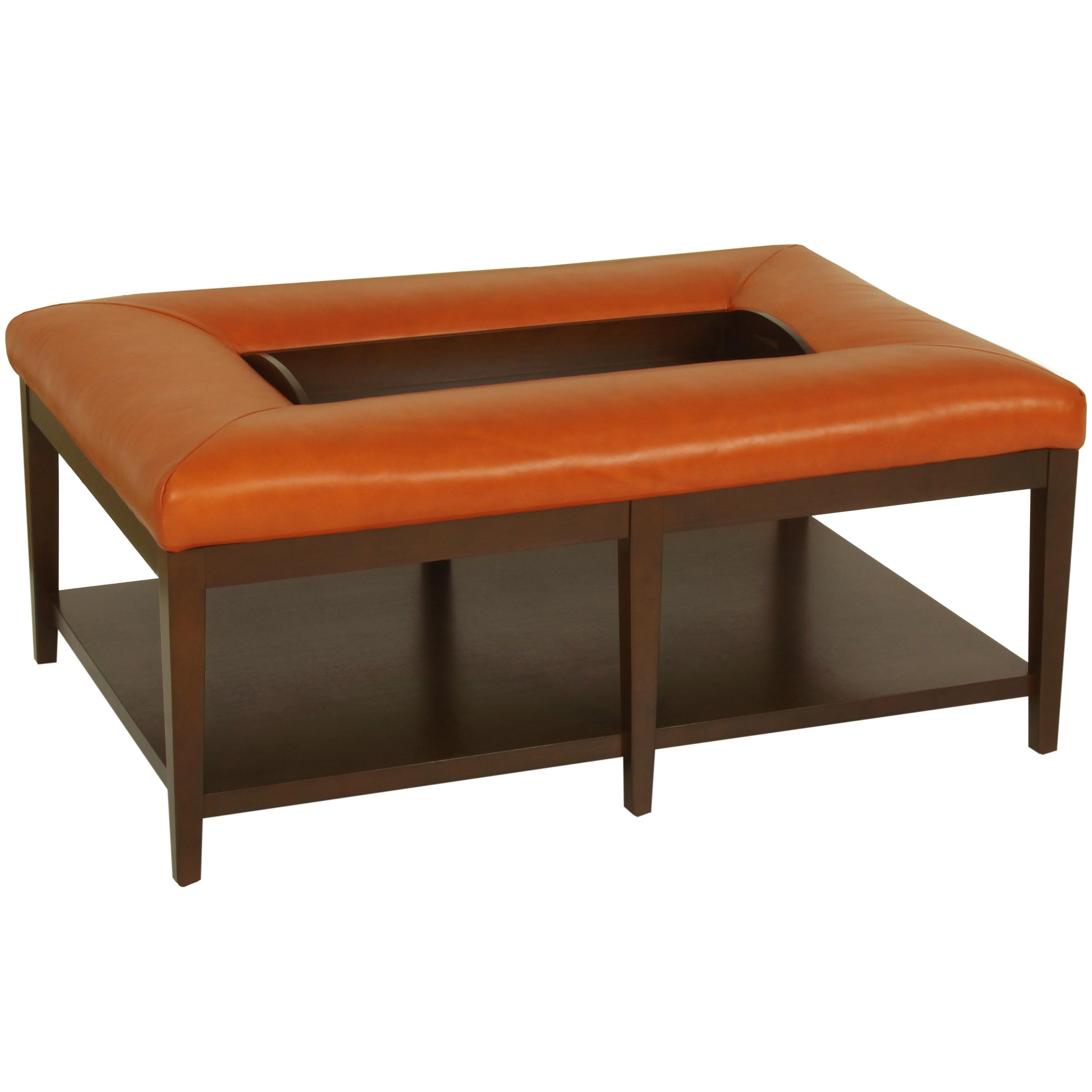 Picture of: Norwalk Shelton Contemporary Ottoman Bench With Solid Base And Removable Tray Lagniappe Home Store Ottoman