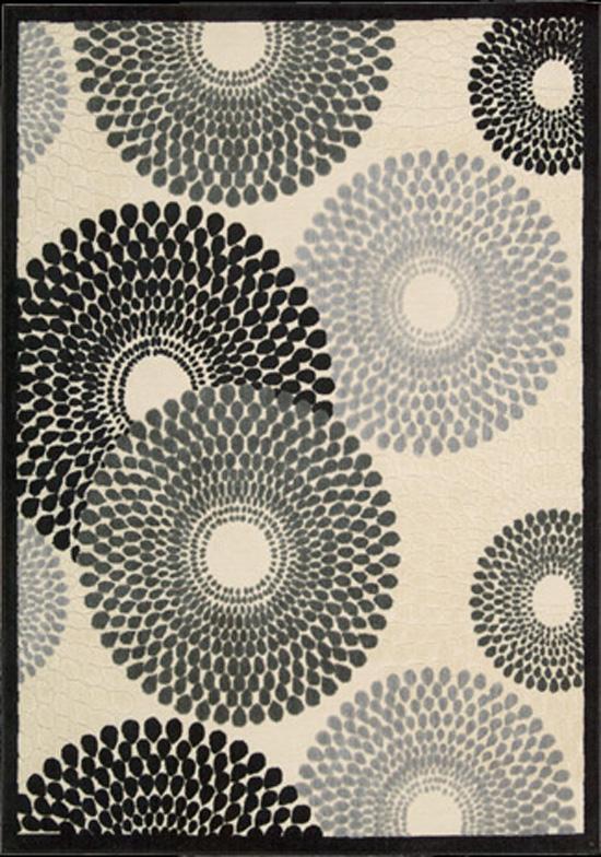 Nourison Graphic 7.9 x 10.10 Area Rug : Parchment - Item Number: 968362740