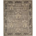 "Nourison Aldora 8'6"" x 11'6"" Opal Grey Area Rug - Item Number: 30822"