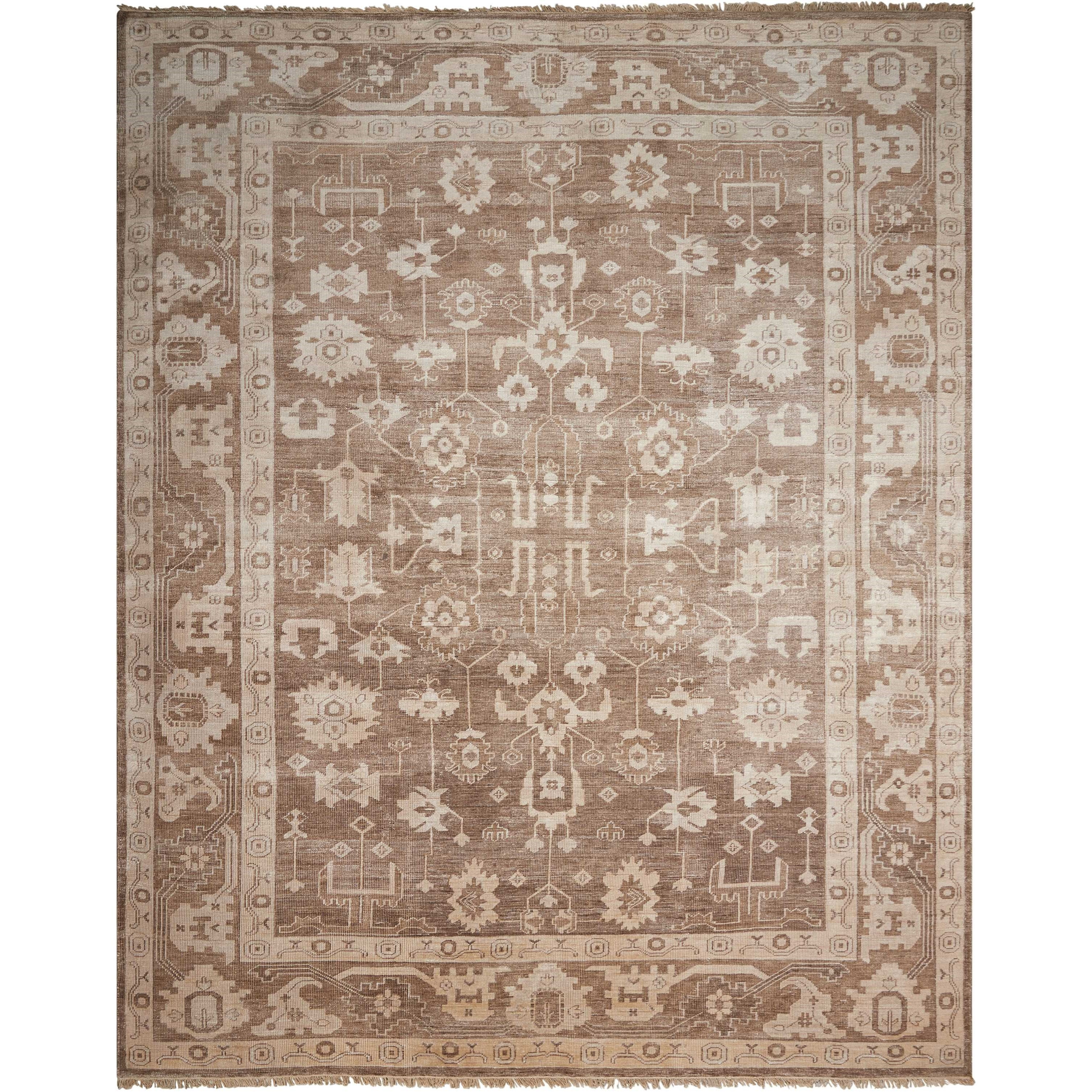 "Aldora1 7'9"" X 9'9"" Mocha Rug by Nourison at Home Collections Furniture"