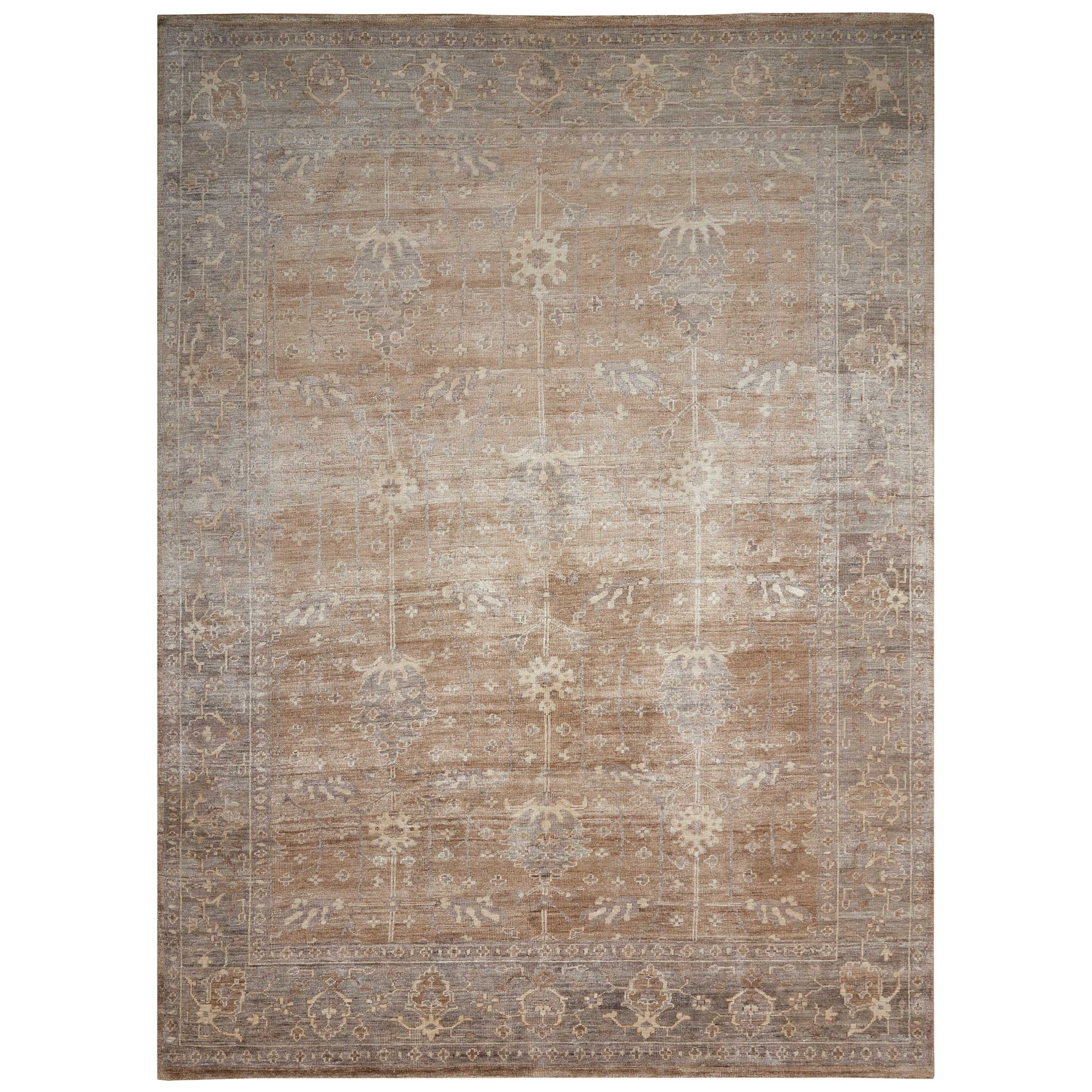 """Aldora1 2'3"""" X 3' Pewter Rug by Nourison at Home Collections Furniture"""
