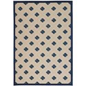 "Nourison Aloha 5'3"" x 7'5"" Navy Rectangle Rug - Item Number: ALH02 NAV 53X75"