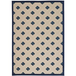 "Nourison Aloha 7'10"" x 10'6"" Navy Rectangle Rug"