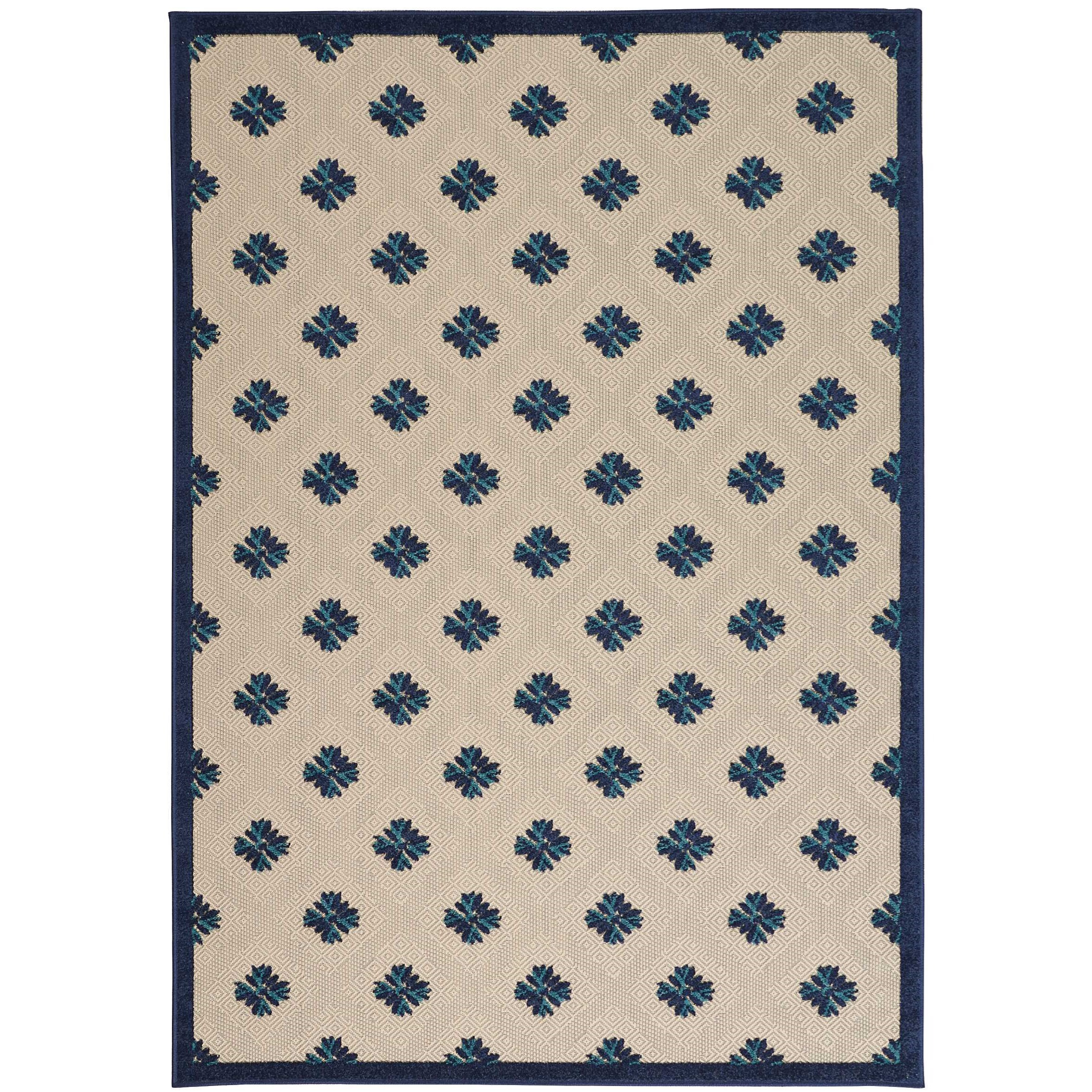"""Aloha 9'6"""" x 13' Navy Rectangle Rug by Nourison at Home Collections Furniture"""