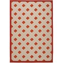 "Nourison Aloha 3'6"" x 5'6"" Red Rectangle Rug - Item Number: ALH02 RED 36X56"