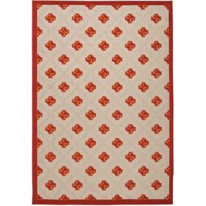 """Nourison Aloha 7'10"""" x 10'6"""" Red Rectangle Rug"""