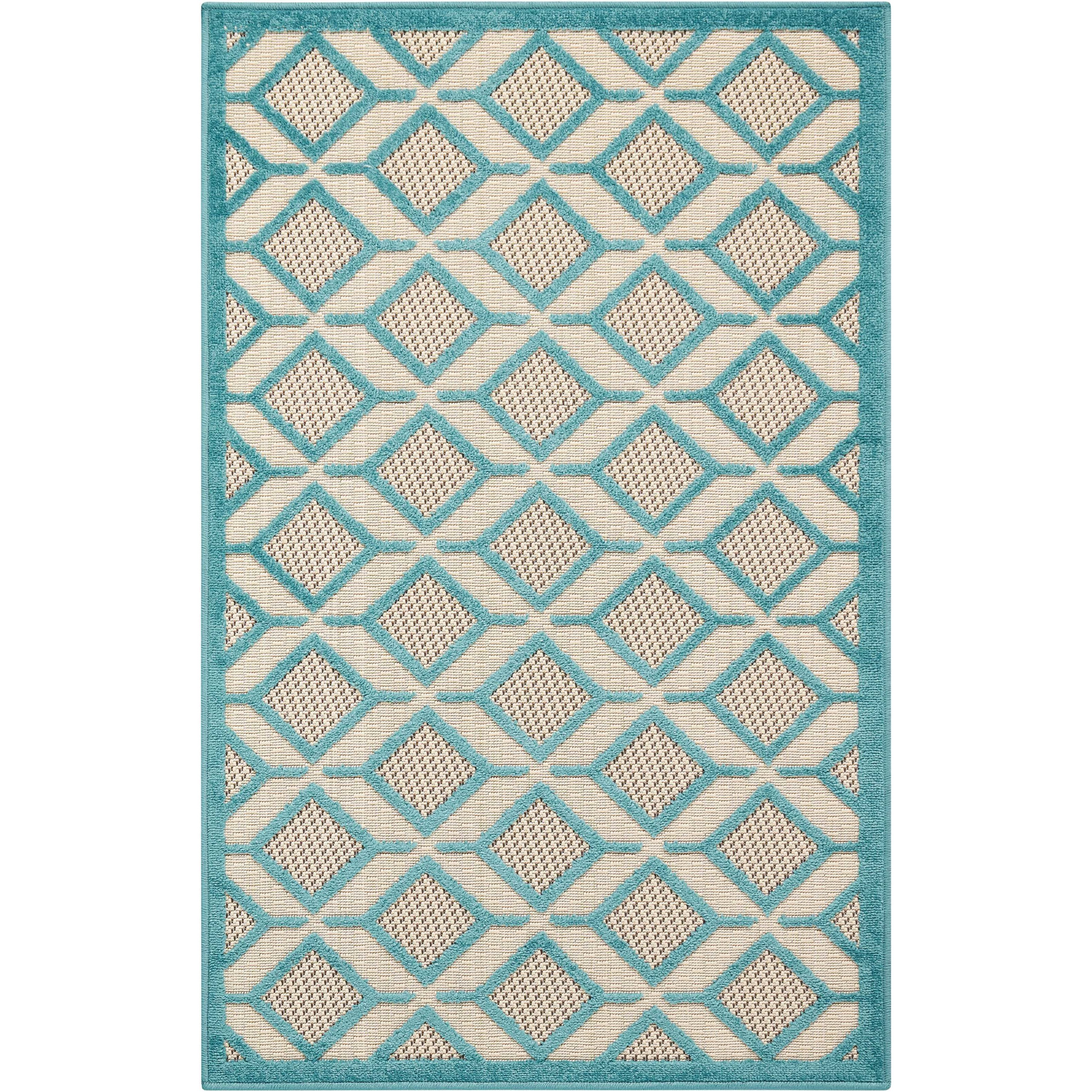 "2'8"" x 4' Blue Rectangle Rug"