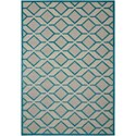 "Nourison Aloha 9'6"" x 13' Blue Rectangle Rug - Item Number: ALH03 BLU 96X13"