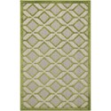 "Nourison Aloha 2'8"" x 4' Green Rectangle Rug - Item Number: ALH03 GRE 28X4"