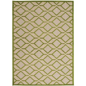 "Nourison Aloha 3'6"" x 5'6"" Green Rectangle Rug"