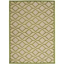 "Nourison Aloha 5'3"" x 7'5"" Green Rectangle Rug - Item Number: ALH03 GRE 53X75"