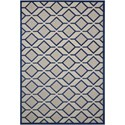 "Nourison Aloha 5'3"" x 7'5"" Navy Rectangle Rug - Item Number: ALH03 NAV 53X75"