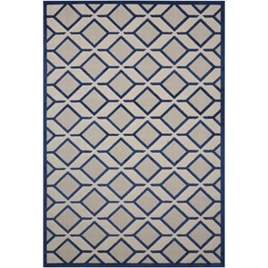 "Nourison Aloha 9'6"" x 13' Navy Rectangle Rug"
