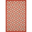 "Nourison Aloha 2'8"" x 4' Red Rectangle Rug - Item Number: ALH03 RED 28X4"