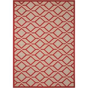 """Nourison Aloha 3'6"""" x 5'6"""" Red Rectangle Rug"""