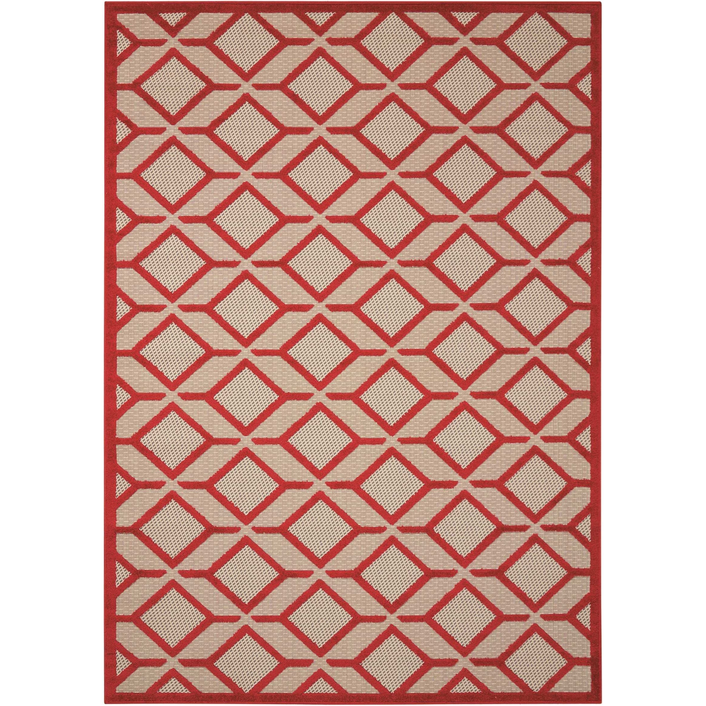"Aloha 5'3"" x 7'5"" Red Rectangle Rug by Nourison at Sprintz Furniture"