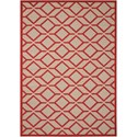 "Nourison Aloha 5'3"" x 7'5"" Red Rectangle Rug - Item Number: ALH03 RED 53X75"