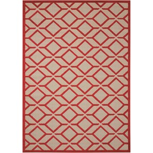 "Nourison Aloha 9'6"" x 13' Red Rectangle Rug"