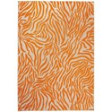"Nourison Aloha 5'3"" x 7'5"" Orange Rectangle Rug - Item Number: ALH04 ORG 53X75"