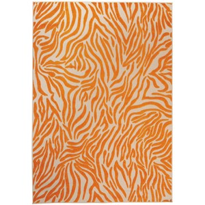 "Nourison Aloha 7'10"" x 10'6"" Orange Rectangle Rug"