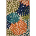 "Nourison Aloha 2'8"" x 4' Multicolor Rectangle Rug - Item Number: ALH05 MTC 28X4"