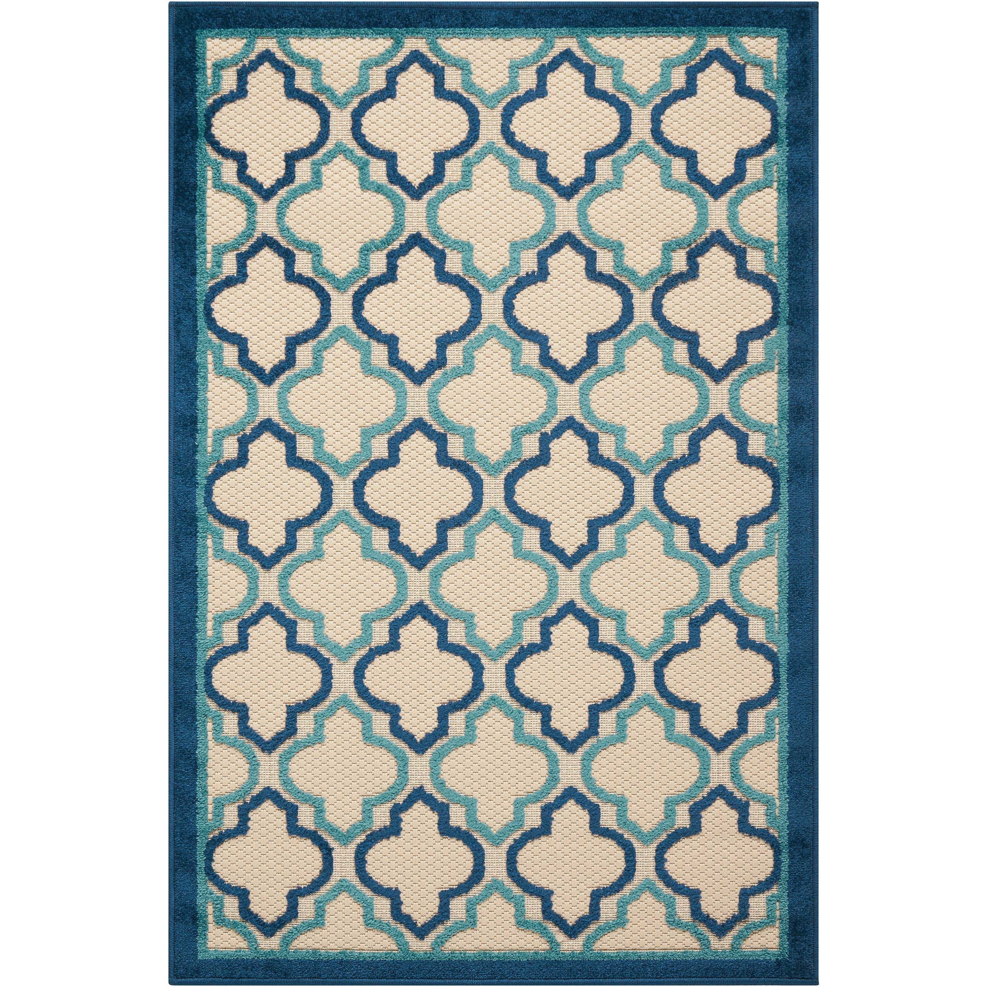 "2'8"" x 4' Navy Rectangle Rug"