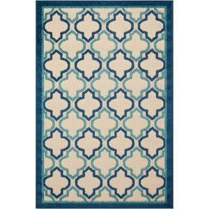 "Nourison Aloha 2'8"" x 4' Navy Rectangle Rug"