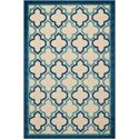"Nourison Aloha 2'8"" x 4' Navy Rectangle Rug - Item Number: ALH06 NAV 28X4"