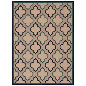 "Nourison Aloha 3'6"" x 5'6"" Navy Rectangle Rug"