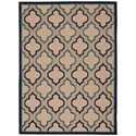 "Nourison Aloha 7'10"" x 10'6"" Navy Rectangle Rug - Item Number: ALH06 NAV 710X106"