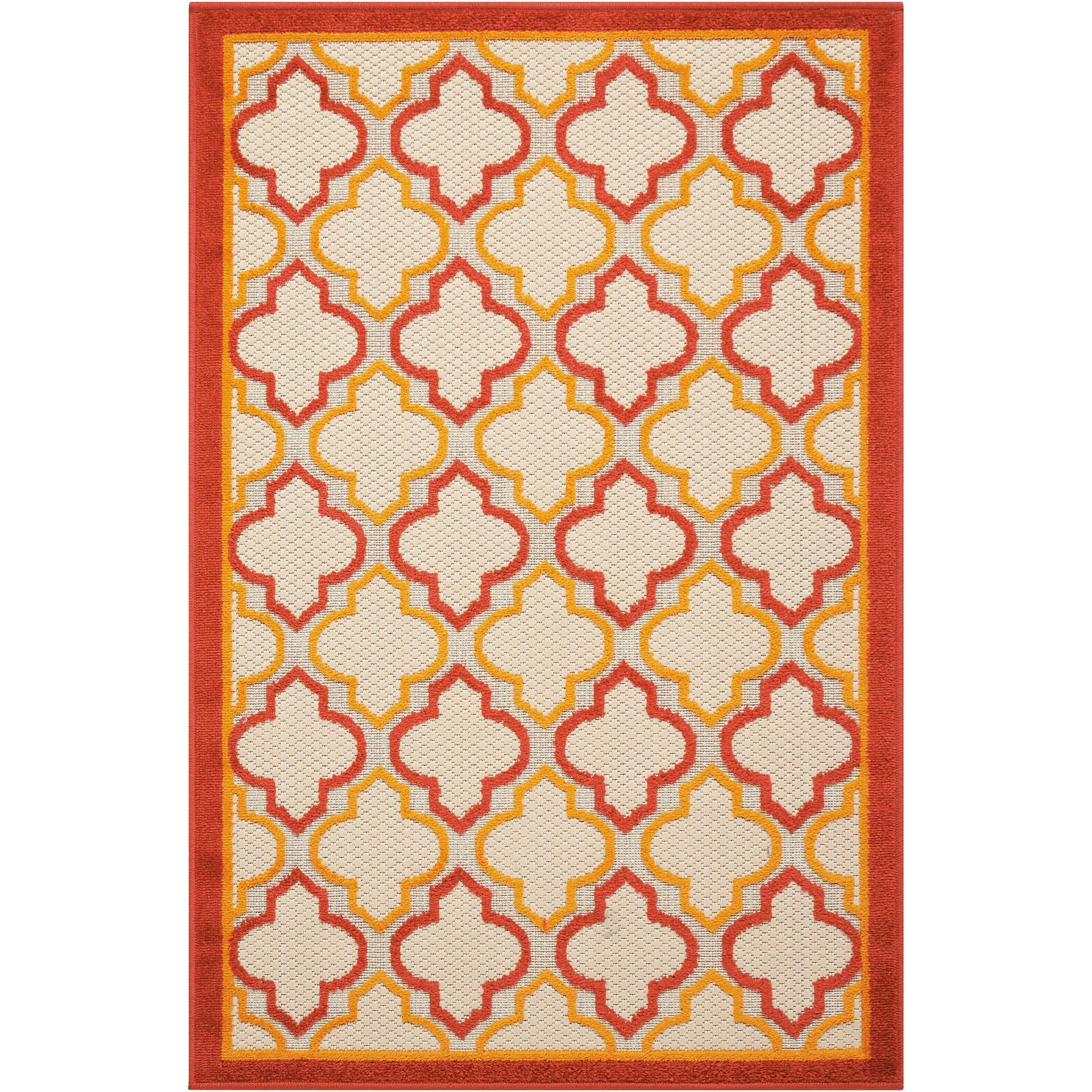 "2'8"" x 4' Red Rectangle Rug"