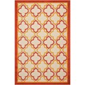 "Nourison Aloha 2'8"" x 4' Red Rectangle Rug - Item Number: ALH06 RED 28X4"