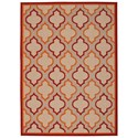 "Nourison Aloha 7'10"" x 10'6"" Red Rectangle Rug - Item Number: ALH06 RED 710X106"