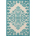 "Nourison Aloha 2'8"" x 4' Aqua Rectangle Rug - Item Number: ALH12 AQU 28X4"