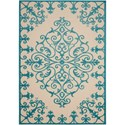 "Nourison Aloha 5'3"" x 7'5"" Aqua Rectangle Rug - Item Number: ALH12 AQU 53X75"