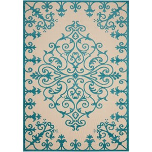 "Nourison Aloha 7'10"" x 10'6"" Aqua Rectangle Rug"