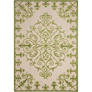 "Nourison Aloha 5'3"" x 7'5"" Green Rectangle Rug"