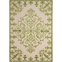 "Nourison Aloha 5'3"" x 7'5"" Green Rectangle Rug - Item Number: ALH12 GRE 53X75"