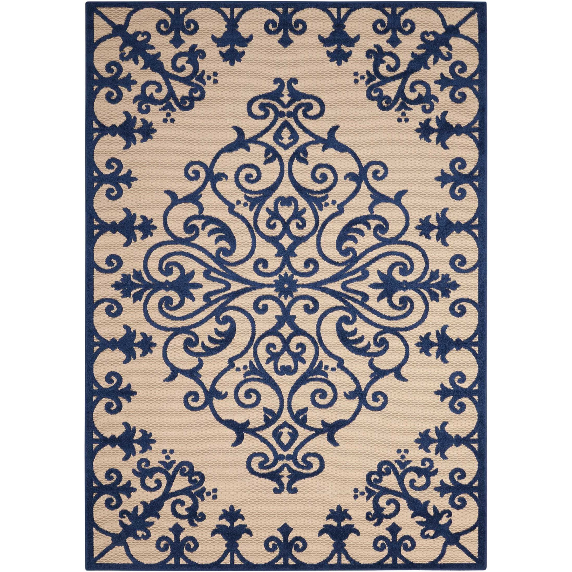 "Aloha 5'3"" x 7'5"" Navy Rectangle Rug by Nourison at Sprintz Furniture"